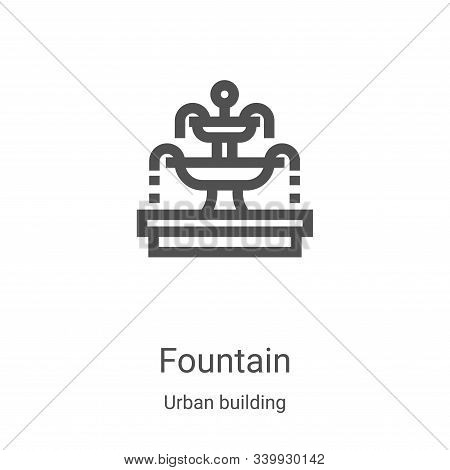 fountain icon isolated on white background from urban building collection. fountain icon trendy and