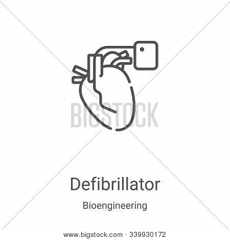 defibrillator icon isolated on white background from bioengineering collection. defibrillator icon t