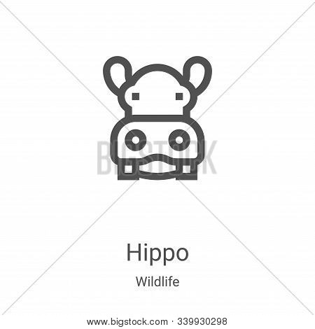 hippo icon isolated on white background from wildlife collection. hippo icon trendy and modern hippo
