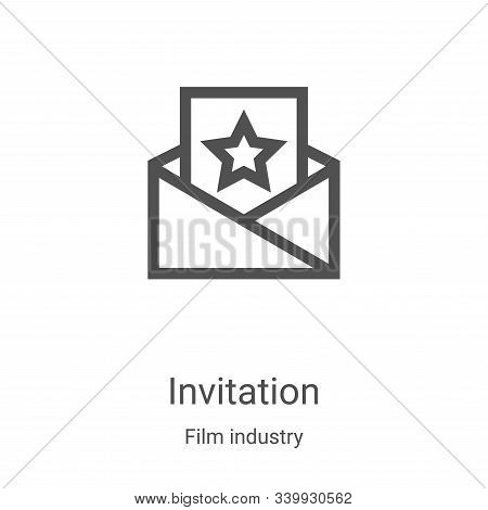 invitation icon isolated on white background from film industry collection. invitation icon trendy a