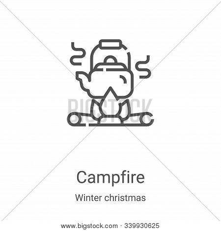 campfire icon isolated on white background from winter christmas collection. campfire icon trendy an