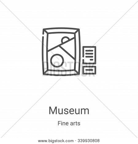 museum icon isolated on white background from fine arts collection. museum icon trendy and modern mu