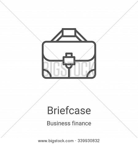 briefcase icon isolated on white background from business finance collection. briefcase icon trendy