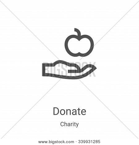 donate icon isolated on white background from charity collection. donate icon trendy and modern dona