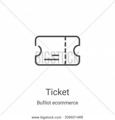 ticket icon isolated on white background from bufilot ecommerce collection. ticket icon trendy and m