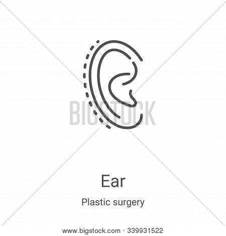 ear icon isolated on white background from plastic surgery collection. ear icon trendy and modern ea