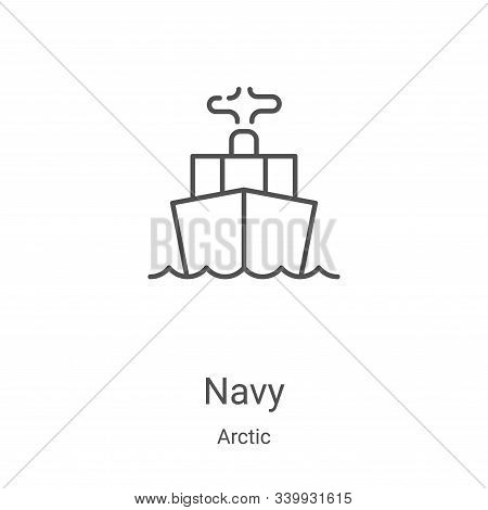 navy icon isolated on white background from arctic collection. navy icon trendy and modern navy symb