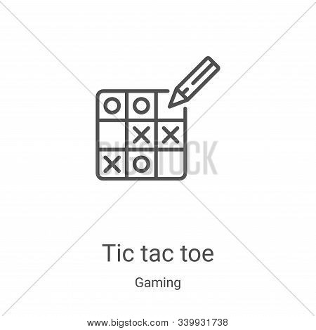 tic tac toe icon isolated on white background from gaming collection. tic tac toe icon trendy and mo
