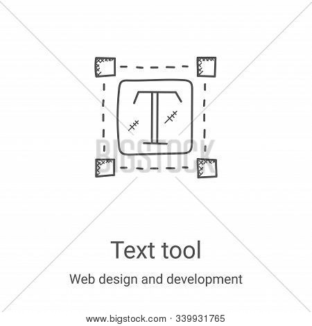 text tool icon isolated on white background from web design and development collection. text tool ic