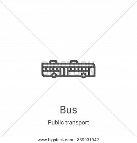 bus icon isolated on white background from public transport collection. bus icon trendy and modern b