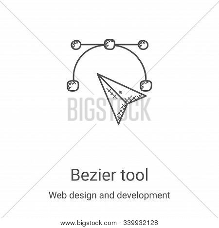 bezier tool icon isolated on white background from web design and development collection. bezier too