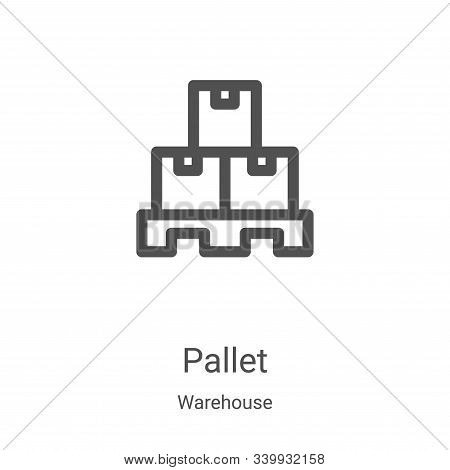 pallet icon isolated on white background from warehouse collection. pallet icon trendy and modern pa