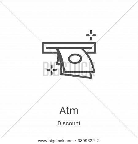 atm icon isolated on white background from discount collection. atm icon trendy and modern atm symbo