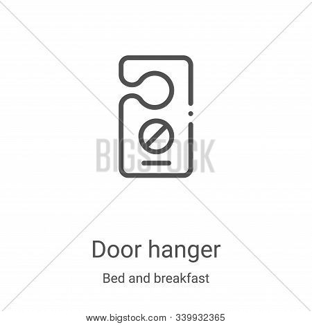 door hanger icon isolated on white background from bed and breakfast collection. door hanger icon tr
