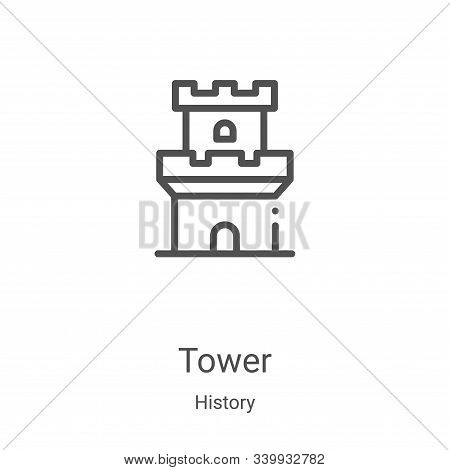 tower icon isolated on white background from history collection. tower icon trendy and modern tower