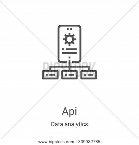 api icon isolated on white background from data analytics collection. api icon trendy and modern api