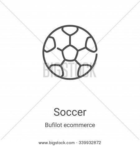 soccer icon isolated on white background from bufilot ecommerce collection. soccer icon trendy and m