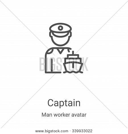 captain icon isolated on white background from man worker avatar collection. captain icon trendy and