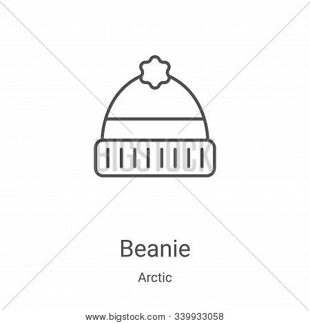 beanie icon isolated on white background from arctic collection. beanie icon trendy and modern beani