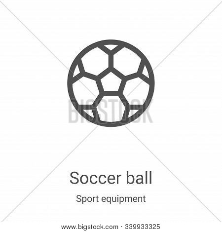 soccer ball icon isolated on white background from sport equipment collection. soccer ball icon tren