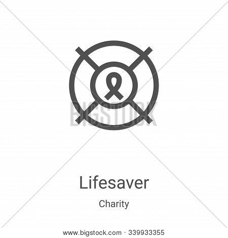 lifesaver icon isolated on white background from charity collection. lifesaver icon trendy and moder