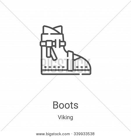 boots icon isolated on white background from viking collection. boots icon trendy and modern boots s