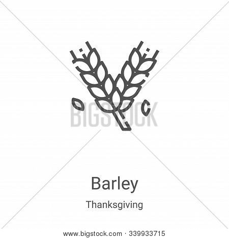 barley icon isolated on white background from thanksgiving collection. barley icon trendy and modern