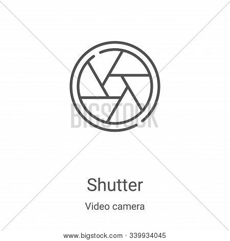 shutter icon isolated on white background from video camera collection. shutter icon trendy and mode