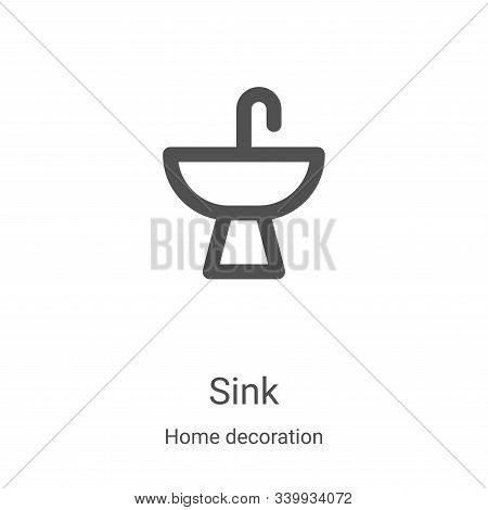 sink icon isolated on white background from home decoration collection. sink icon trendy and modern
