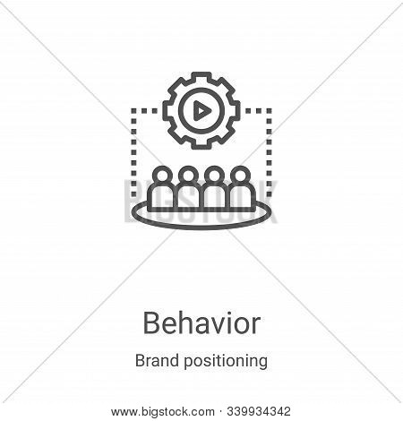 behavior icon isolated on white background from brand positioning collection. behavior icon trendy a