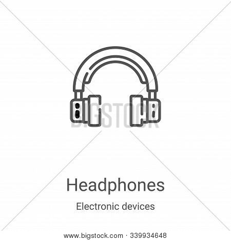 headphones icon isolated on white background from electronic devices collection. headphones icon tre