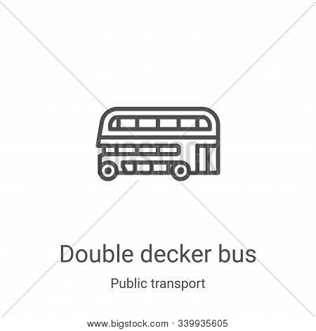 double decker bus icon isolated on white background from public transport collection. double decker