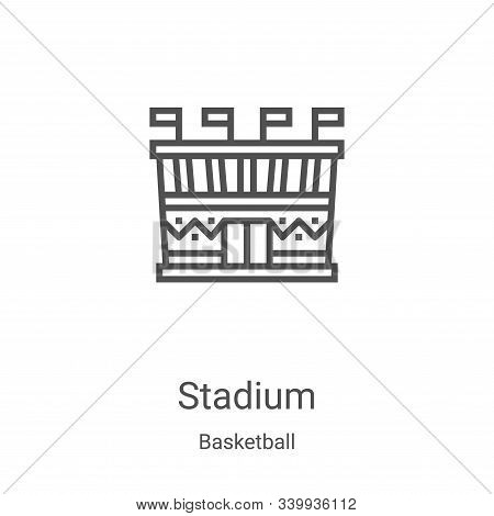stadium icon isolated on white background from basketball collection. stadium icon trendy and modern