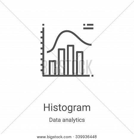 histogram icon isolated on white background from data analytics collection. histogram icon trendy an
