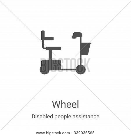 wheel icon isolated on white background from disabled people assistance collection. wheel icon trend