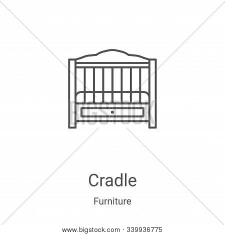 cradle icon isolated on white background from furniture collection. cradle icon trendy and modern cr