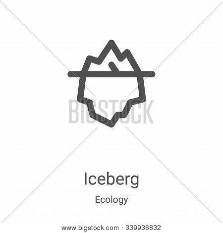 iceberg icon isolated on white background from ecology collection. iceberg icon trendy and modern ic