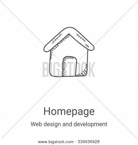 homepage icon isolated on white background from web design and development collection. homepage icon