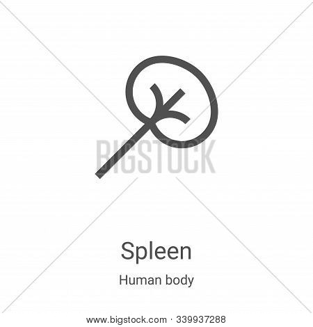 spleen icon isolated on white background from human body collection. spleen icon trendy and modern s