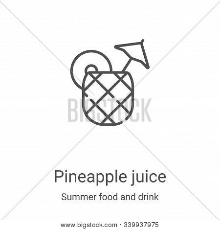 pineapple juice icon isolated on white background from summer food and drink collection. pineapple j
