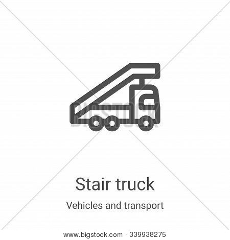 stair truck icon isolated on white background from vehicles and transport collection. stair truck ic