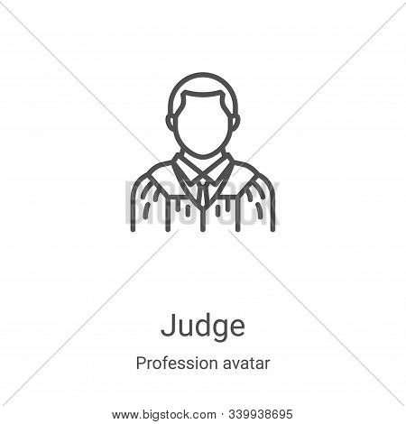 judge icon isolated on white background from profession avatar collection. judge icon trendy and mod