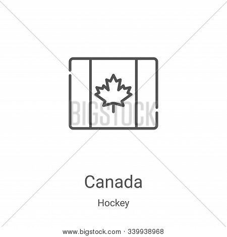 canada icon isolated on white background from hockey collection. canada icon trendy and modern canad