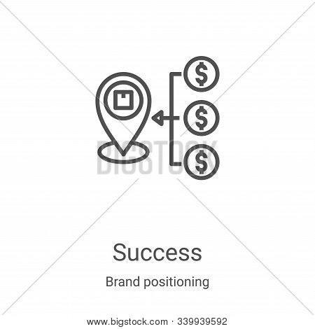 success icon isolated on white background from brand positioning collection. success icon trendy and