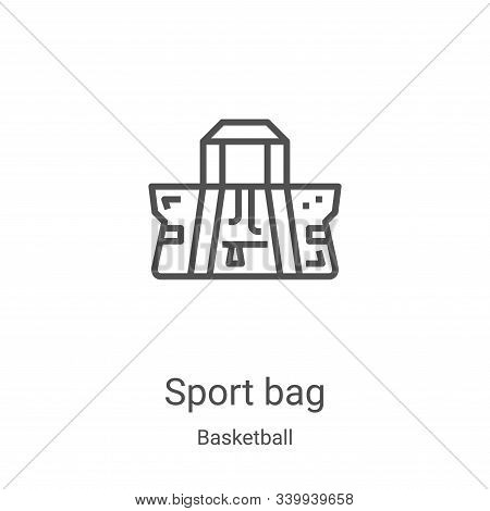 sport bag icon isolated on white background from basketball collection. sport bag icon trendy and mo