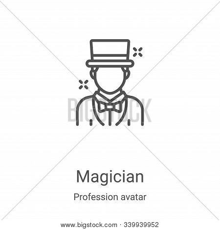 magician icon isolated on white background from profession avatar collection. magician icon trendy a