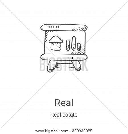 real icon isolated on white background from real estate collection. real icon trendy and modern real
