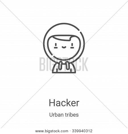 hacker icon isolated on white background from urban tribes collection. hacker icon trendy and modern