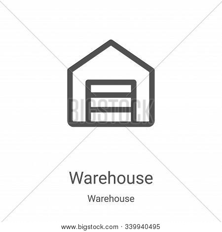 warehouse icon isolated on white background from warehouse collection. warehouse icon trendy and mod