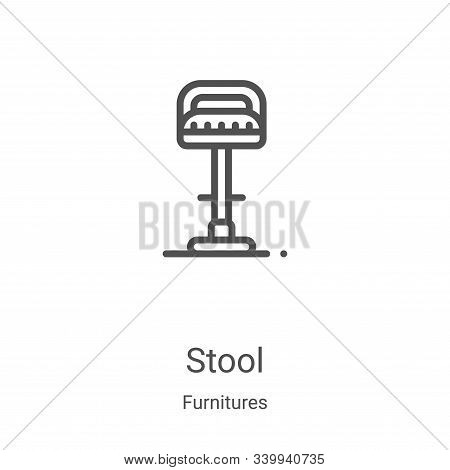 stool icon isolated on white background from furnitures collection. stool icon trendy and modern sto
